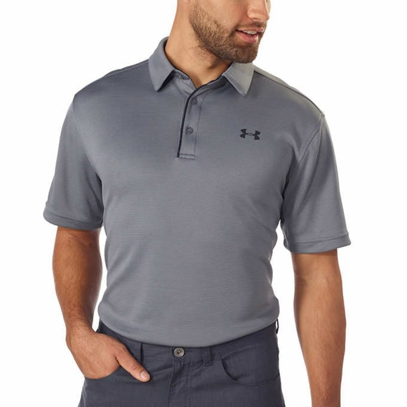 a3e1adc7 Under Armour Shirts | Mens Tech Golf Wicking Polo Gray | Poshmark